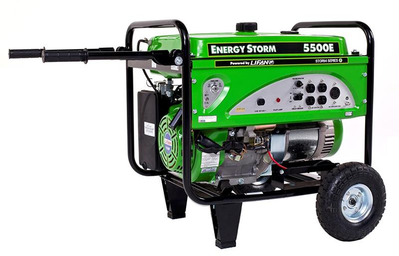 Lifan ES5500E Watt 11 HP Portable Generator Electric Start (Battery Not Included)