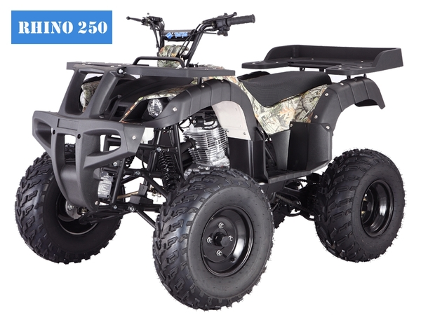 250cc, Utility Body, 4 Speed Manual Transmission w/ Reverse, Electric Start, Front Drums, Rear Disc, Front & Rear Racks